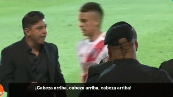 Marcelo Gallardo se enojó con Borré y las cámaras lo registraron