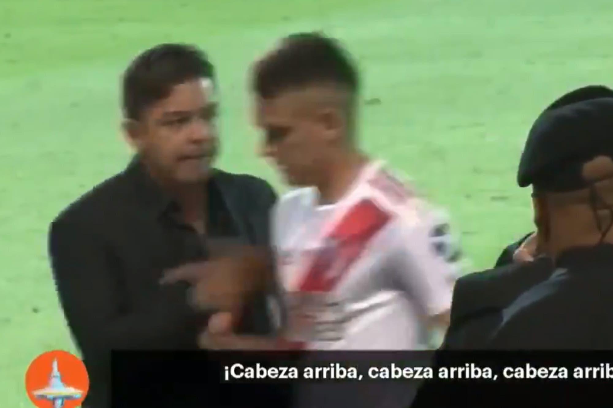Cambio, enojo, trompada y reto: el video viral que protagonizan Gallardo y Borré
